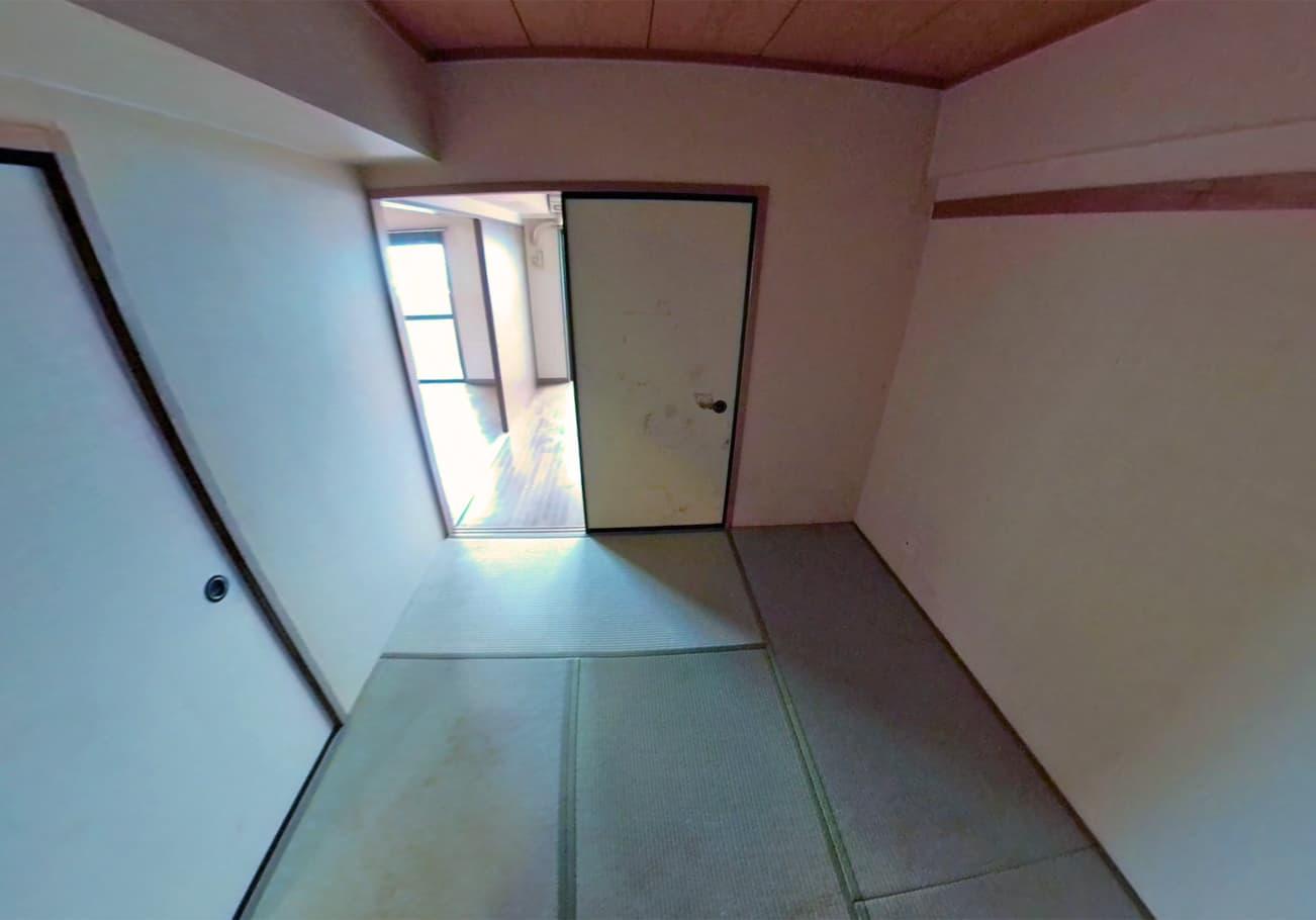 愛知県2LDK ゴミが天井近くまであるお部屋の片付け後の和室の様子