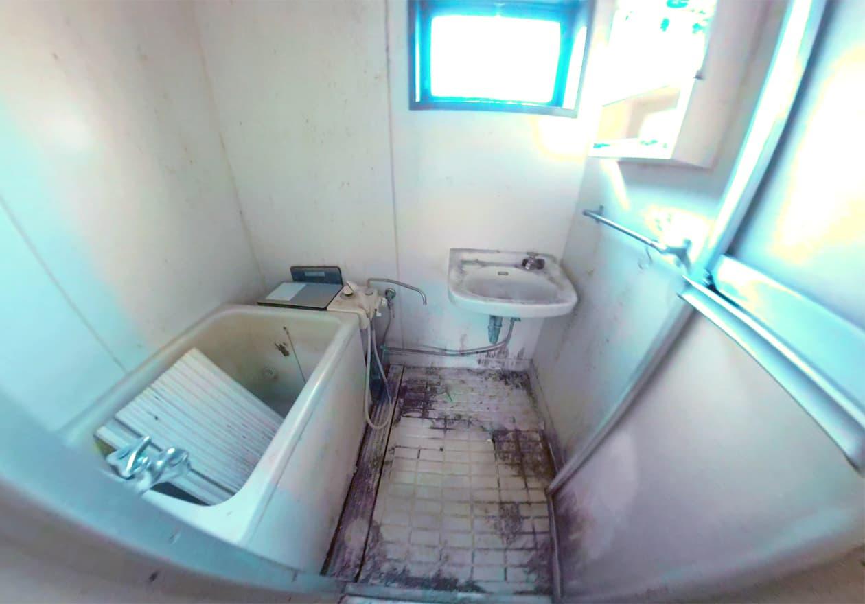 片付け後のお風呂の様子