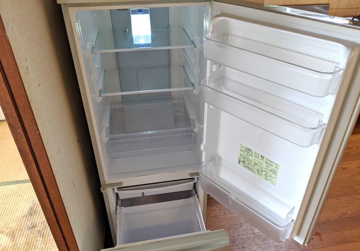 清掃後の冷蔵庫の中の様子