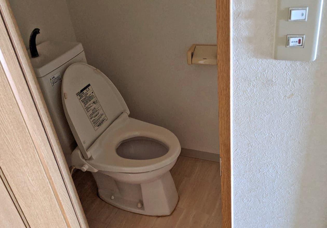片付け後のトイレの様子