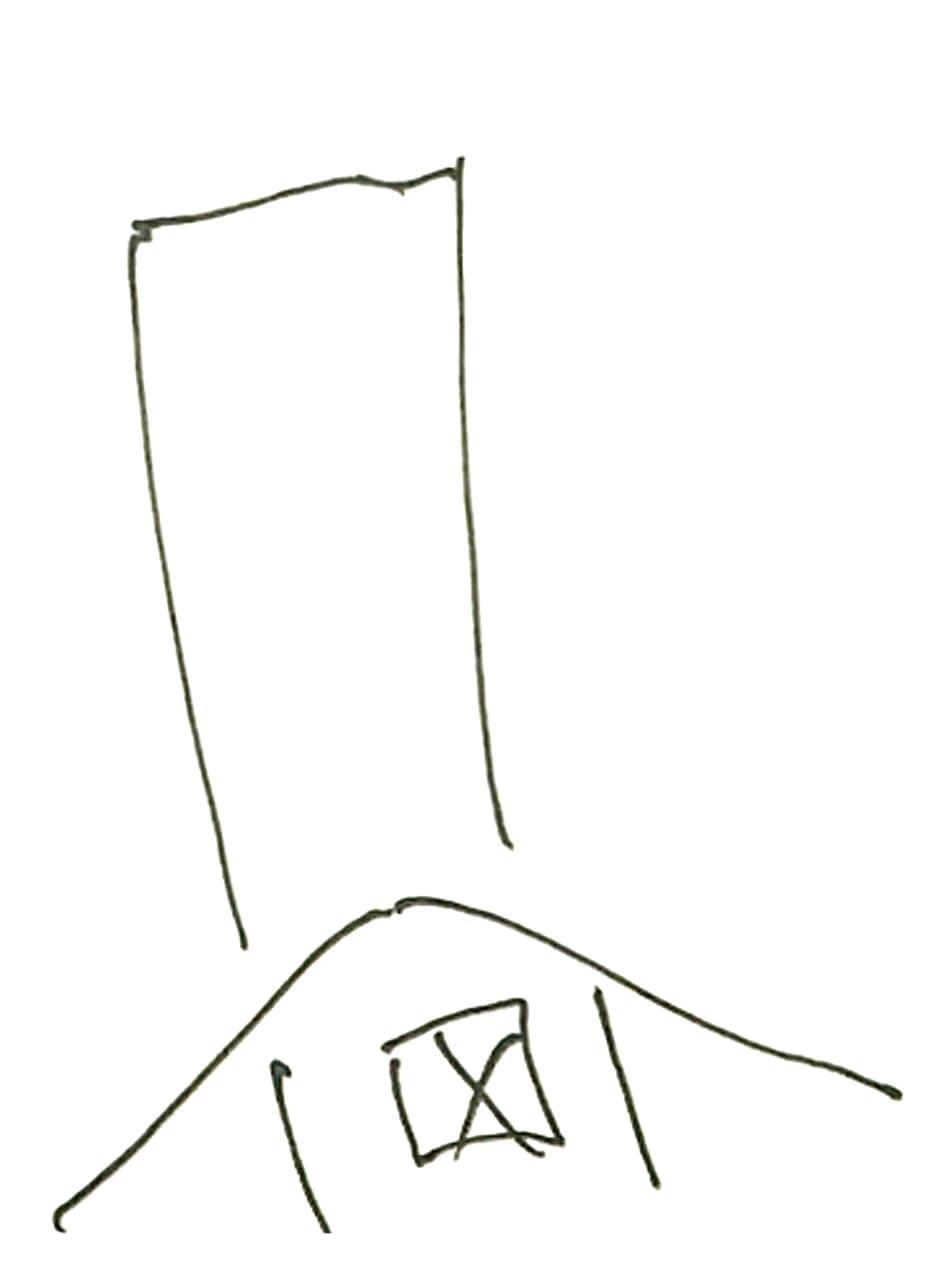 でかすぎる家と煙突のアップ画像