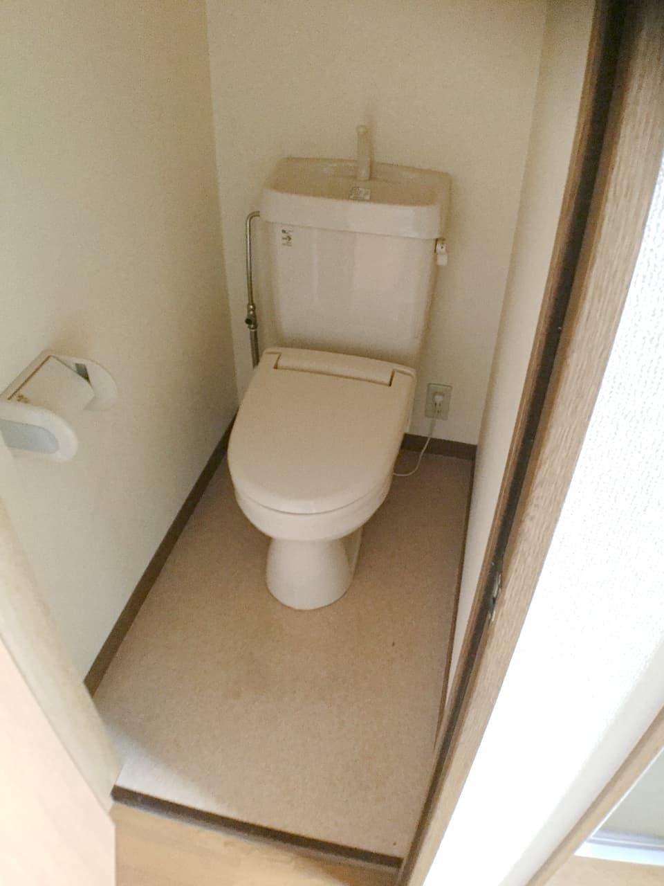 掃除後のトイレの様子