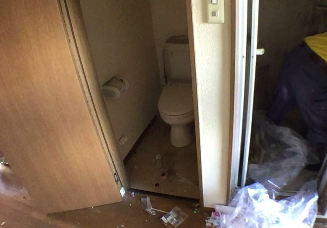 片付けた後のトイレの様子
