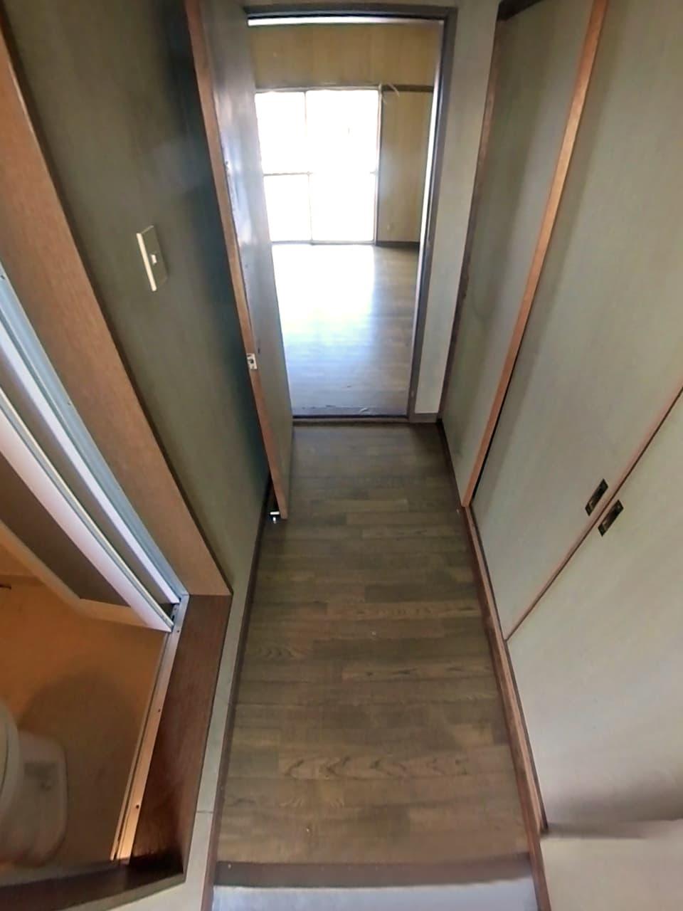 清掃後の玄関の様子