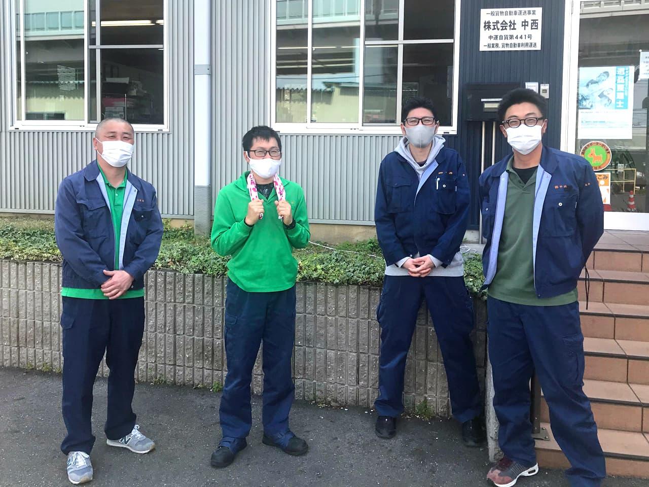 竹内、高橋、岡本、小田の集合写真