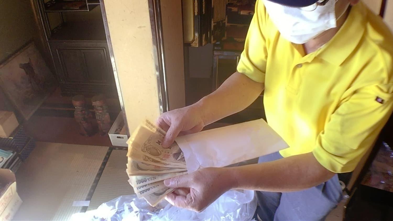 お仏壇から現金が出てきた時の写真