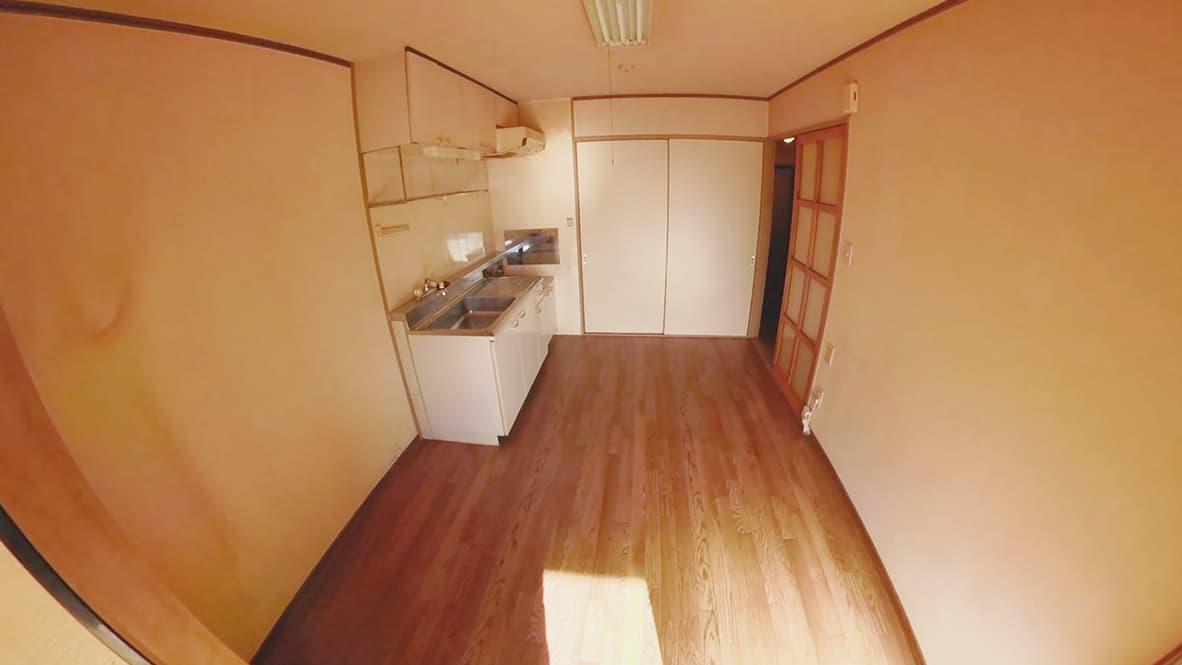 【豊田市豊田市2DK:片付け後】何も無くなったダイニングキッチンの写真