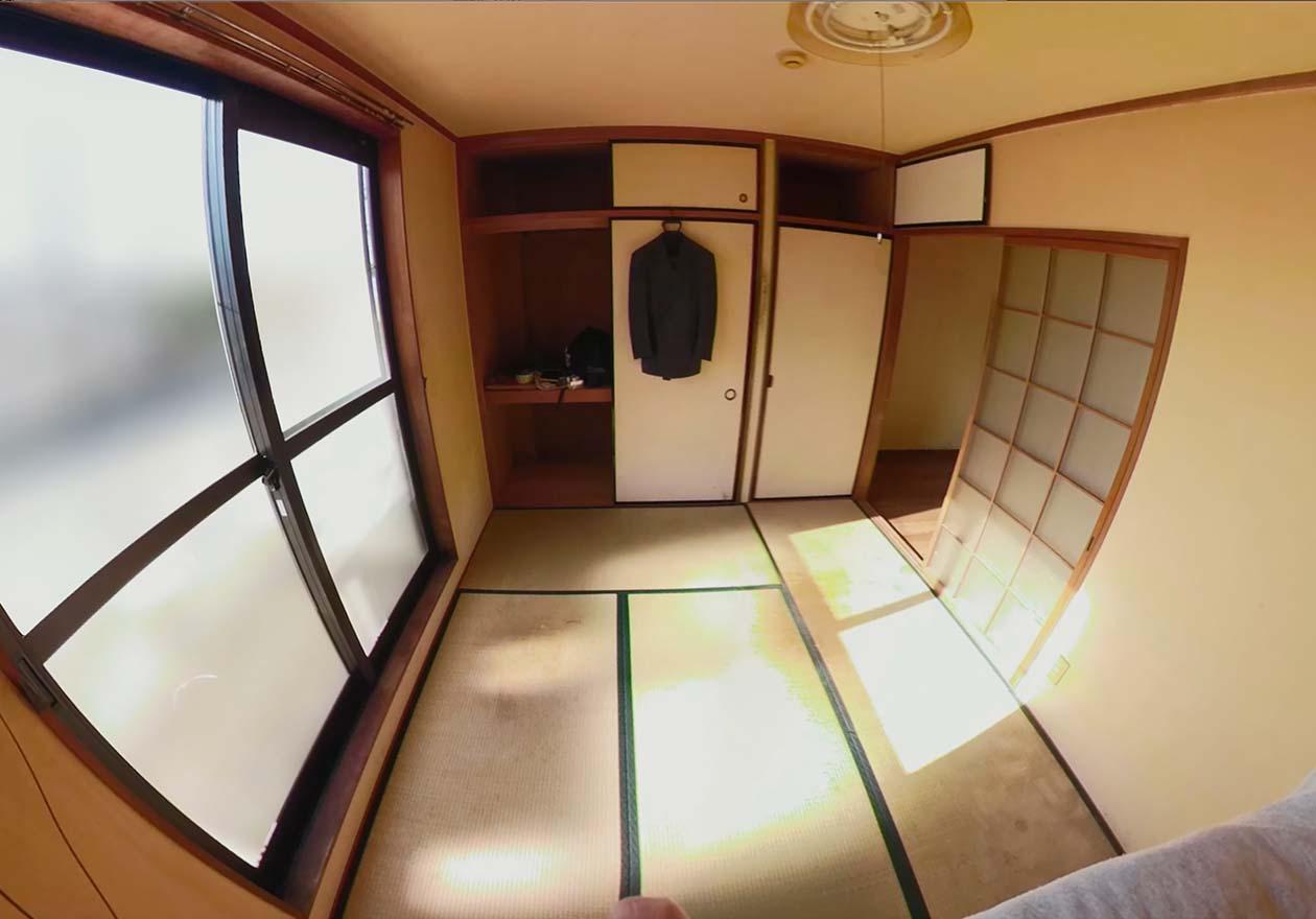 片付け完了後の寝室の写真