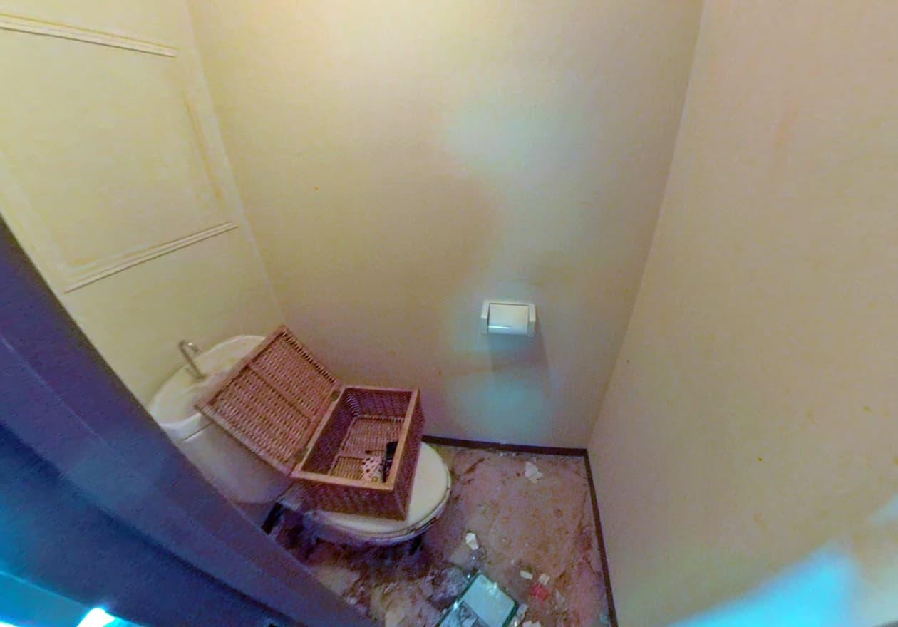 片付け2日目、片付けた後のトイレの様子