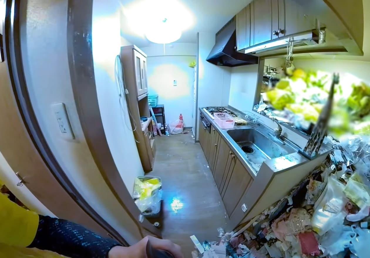 片付け3日目、作業後のキッチンの様子