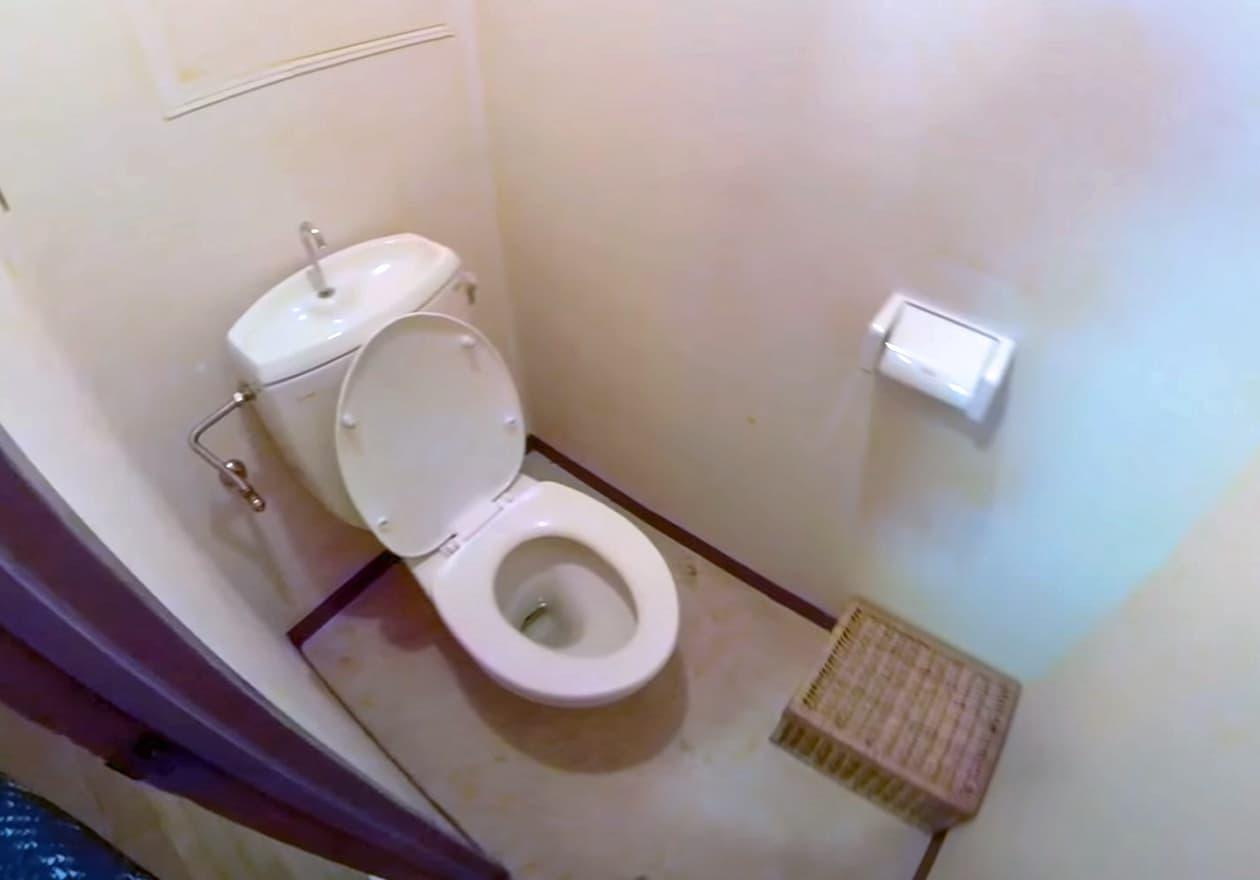 片付け3日目、清掃後のトイレの様子